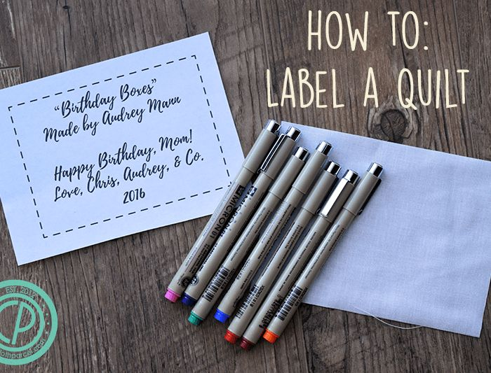 Make This: How to Make a Quilt Label + Christmas Pattern Giveaway!!
