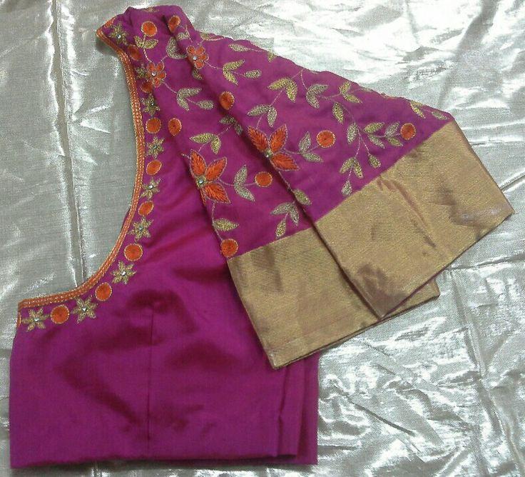 Uppada pattu blouse with maggam work 7702919644