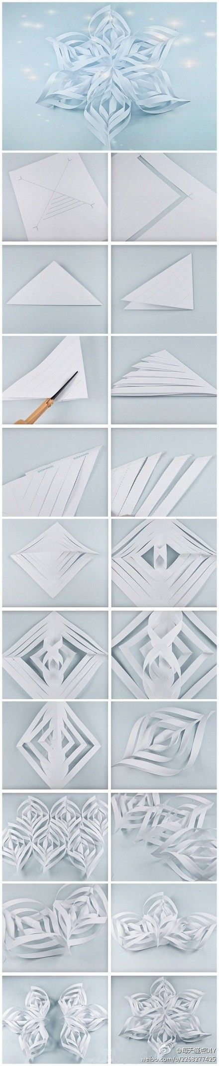 Make Christmas snowflakes - use two sided paper for an interesting effect.