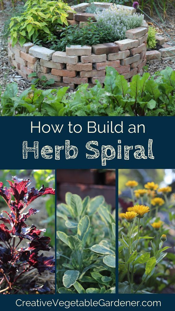 Grow your herbs in a DIY herb spiral and add some more beauty to your garden!