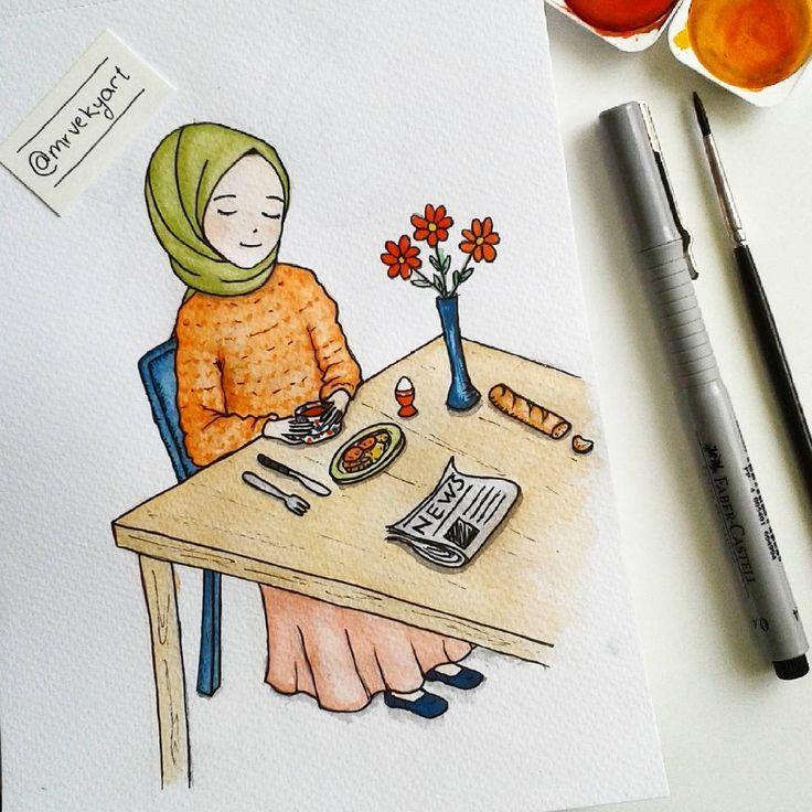 #art #illustration #watercolor #drawing #design #çizim #cute #doodle #sanat #sketch #chibi #cartoon #painting #illustrasyon #hijab #muslim #muslimah #hijabfashion #suluboya #draw #childrenillustration #anime #manga #photo #instaart #flowers #breakfast #kahvaltı http://turkrazzi.com/ipost/1515940878768865388/?code=BUJtDKLgwBs