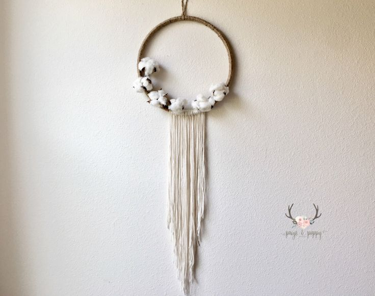 Baby Mobile - Boho Dream Catcher Mobile Wall Decor - Large Doily Dream Catcher Cotton Wreath - Farmhouse Nursery Decor - Rustic Cotton Decor by PaigeAndPoppy on Etsy https://www.etsy.com/listing/498310794/baby-mobile-boho-dream-catcher-mobile