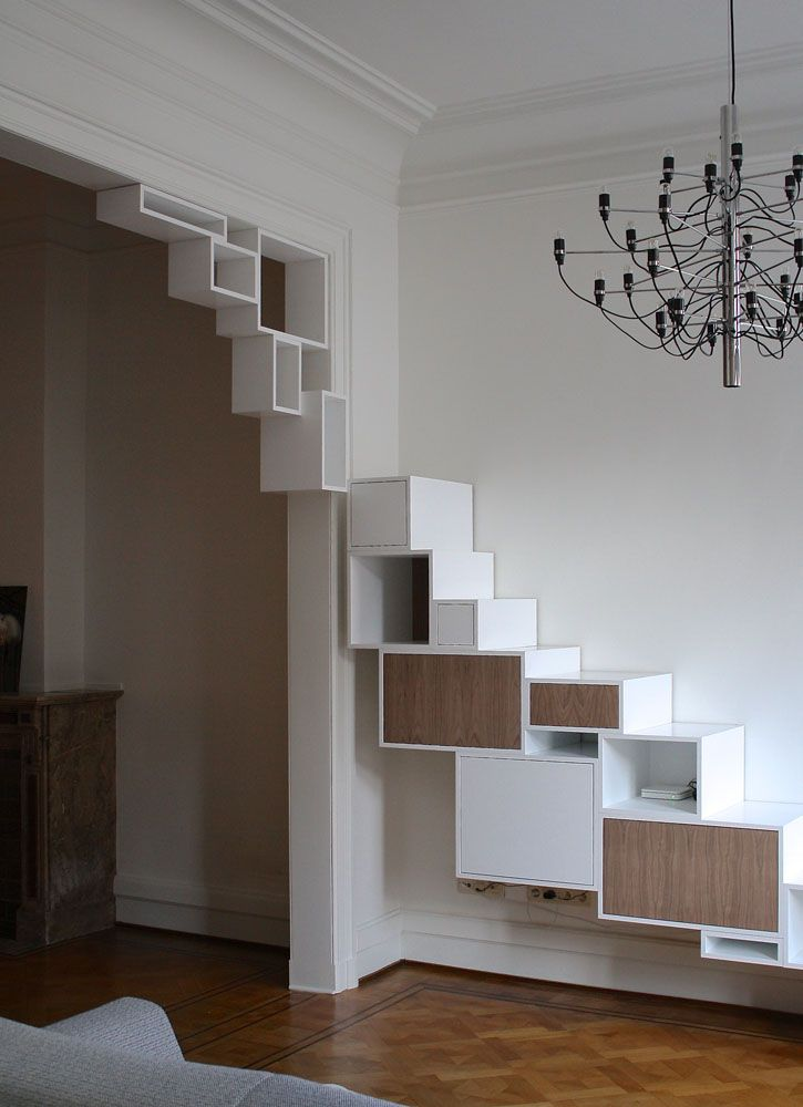 """If you have cats, extend the """"steps"""" all the way to the top of the opening & add shelf for kitties"""