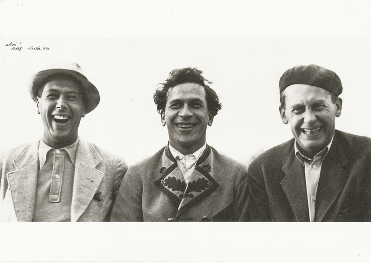 Herbert Bayer, Xanti Schawinsky and Walter Gropius.