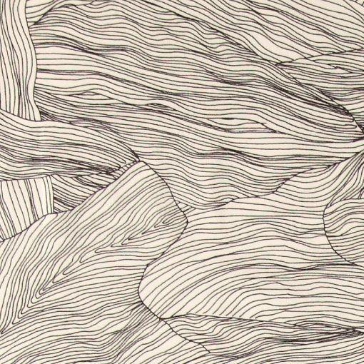 Vævet hvid m sort abstrakt mønster