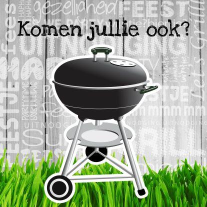 Barbecue komen jullie ook - Uitnodigingen - Kaartje2go
