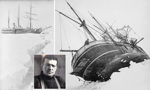 When adventures were crazy extreme! Life in the freezer: Previously-unseen images of Sir Ernest Shackleton's 1915 expedition to the Antarctic give an new insight into his men's fight for survival. @quarkexp