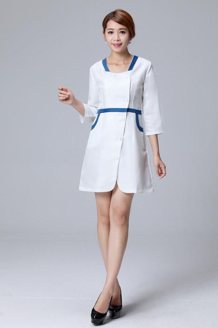 White pinafore apron nurse - Medical Uniforms 2017 Women Hospital Medical Scrub Clothes Dental Clinic And Beauty Salon Nurse Uniform Medical