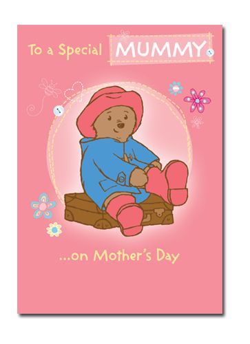 Official Paddington Mummy Mother's Day Card now available with Free 1st Class UK Postage from Publishers Danilo.com at http://bit.ly/MotherDayCardsWrap