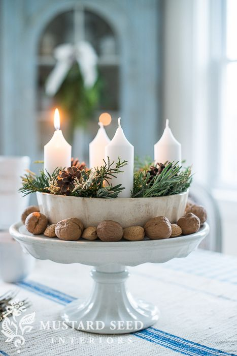 ring mold advent wreath - Miss Mustard Seed