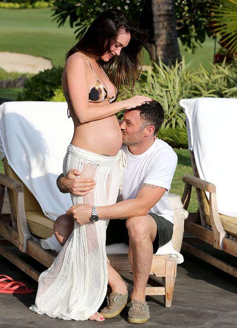 Megan Fox and husband Brian Austin Green in Hawaii on June 24, 2012.
