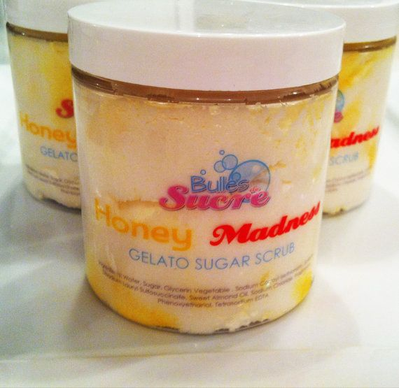 Honey Madness  Gelato Sugar Scrub  9oz  Paraben & by Bullesdesucre, $16.00