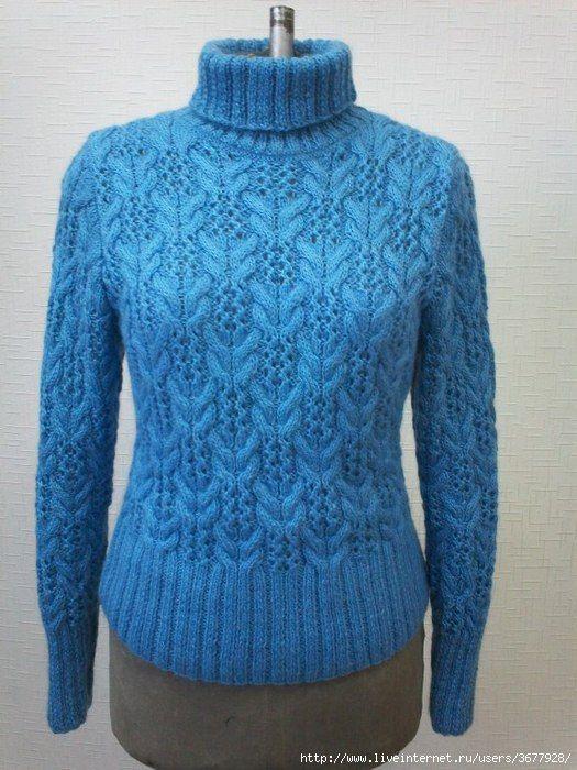 Пуловер с высоким воротником спицами. Обсуждение на LiveInternet - Российский Сервис Онлайн-Дневников