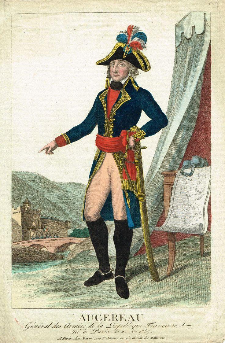 AUGEREAU - Général des armées de la République Française - à Paris chez Basset