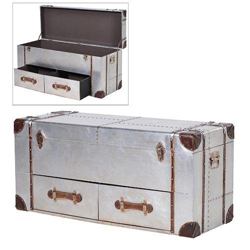 Byrå / kista i aluminium i aviator, loft eller industri stil från Manorstyle