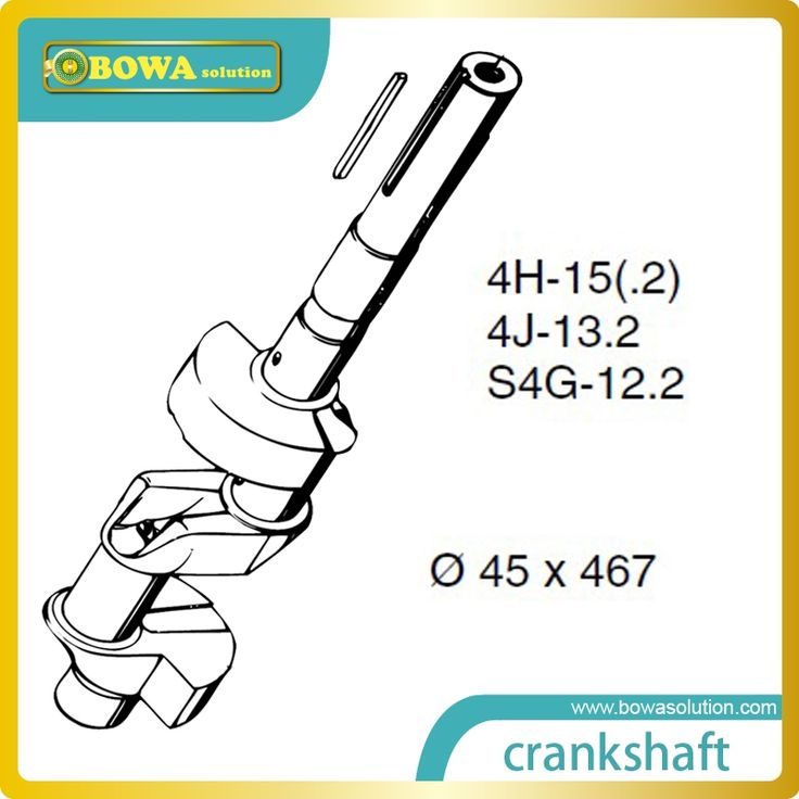 152.00$  Buy now - http://alidk7.worldwells.pw/go.php?t=32260414251 - B4 Crankshaft for big 4 cylinder octagon refrigeration compressor  compatible with Bitzer 4H15.2(Y) compressor parts