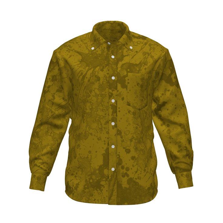 スプラッシュペイントのグラフィックシャツです。/『ペイントグラフィック シャツ 黄』 - 7th Spirits