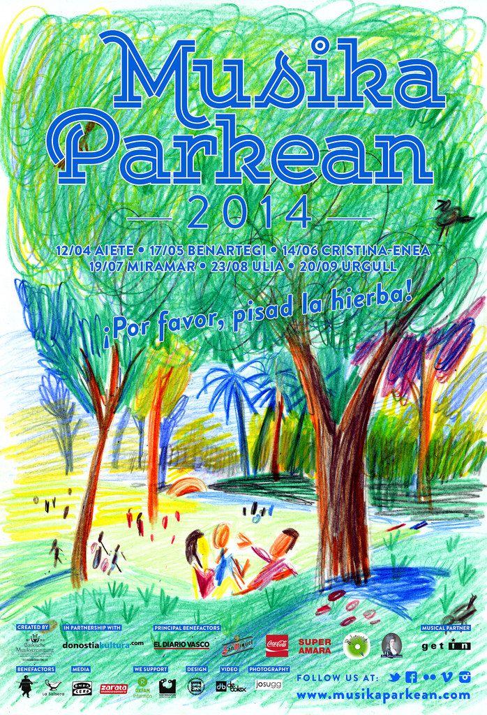 Musika Parkean - Temporada 2014 denboraldia  Ilustración: Pernan Goñi