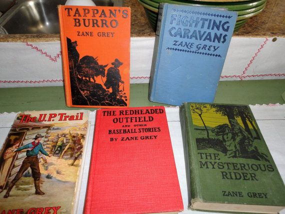 Zane Grey Book Collection Set of 5 Antique by TammysFindings