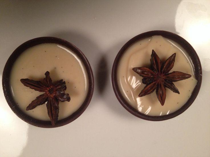 Panna cotta with chocolate