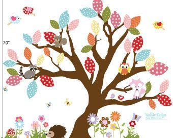 Muur stickers kwekerij - Nursery muur sticker - boom decal - kinderen muur…