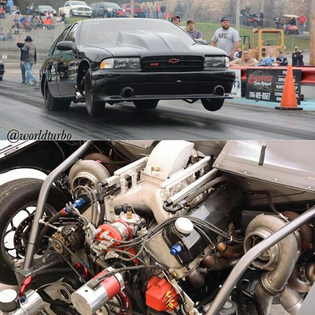 Turbo Harley Drag Race: Twin Garrett GT55 91mm