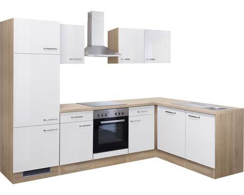 Winkelküche Valero 280x170 cm inkl. Einbaugeräte weiß