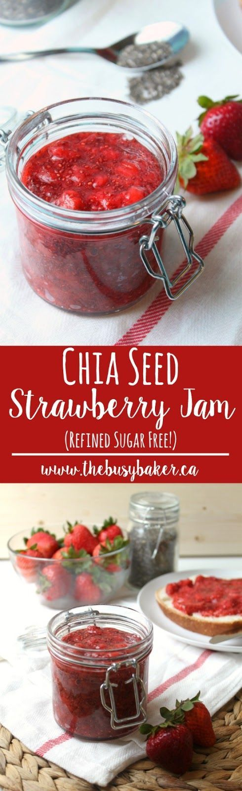 Homemade Chia Seed Strawberry Jam recipe from thebusybaker.ca!