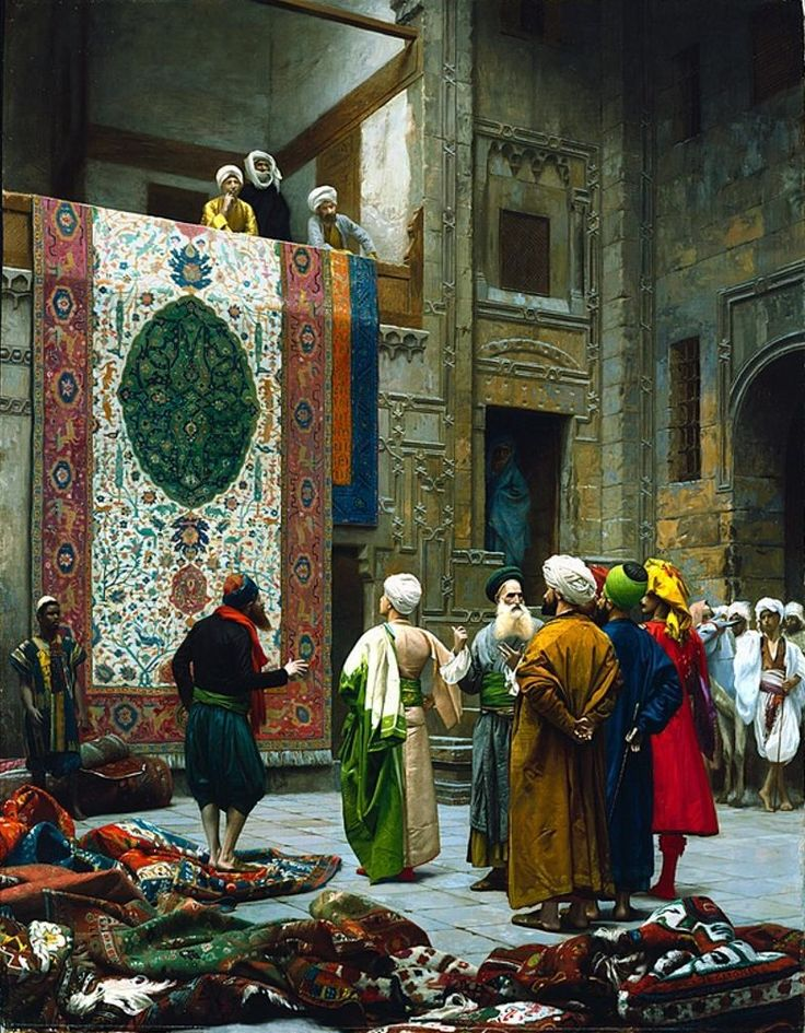 Jean-Leon Gerome, The Carpet Merchant, c. 1887 / I just love the color and detail