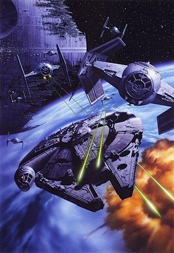 Star Wars Space Battle.  #StarWars  #SpaceBattle