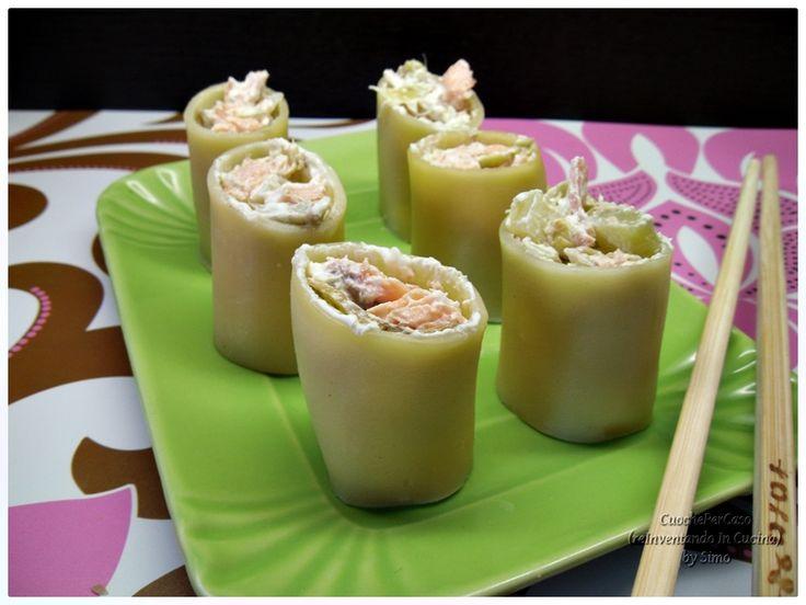 Sushi all'italiana .Idea curiosa che vi stupirà piacevolmente,ricetta di CuochePerCaso