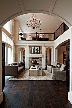 dark wood floors and open plan beautiful!