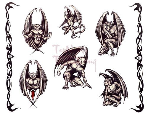 Fantasy Gargoyles Tattoo Designs | Tattoobite.com