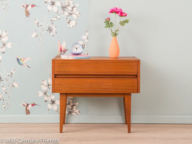 Vintage Kommoden - TEAK Nachttisch, Kommode, 60er, Denmark 50er - ein Designerstück von Mid-Century-Friends bei DaWanda