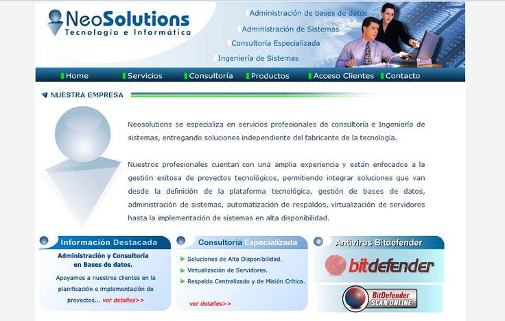 Sitio web desarrollado para  NeoSolutions