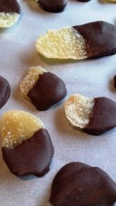 Chocolate Covered Candied Ginger