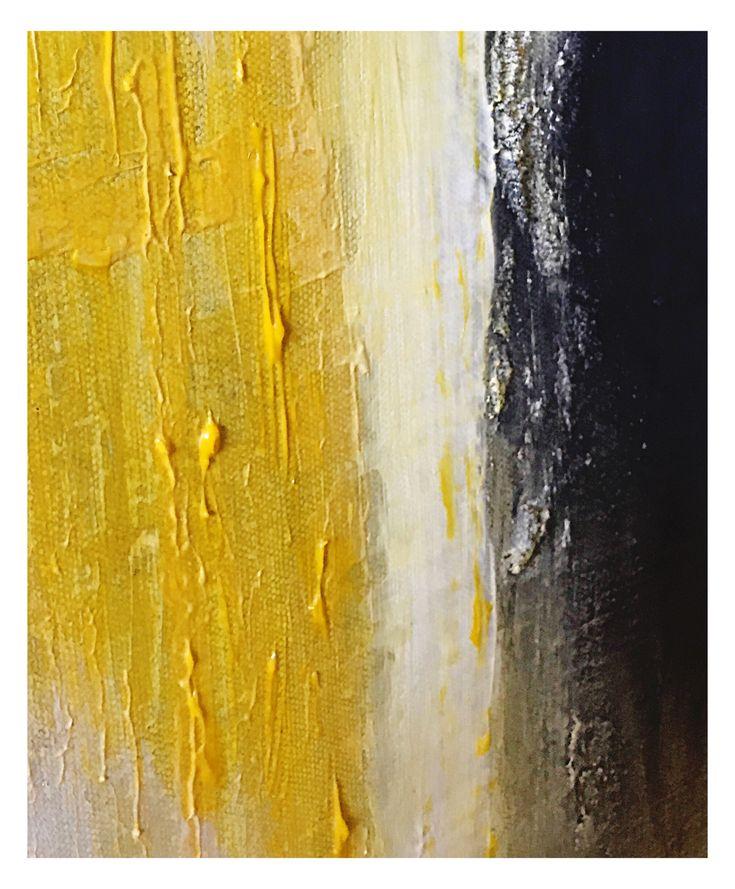 SHIPWRECKED Yellow/ Cream/ Black #art #texture #gloss #black #white #yellow