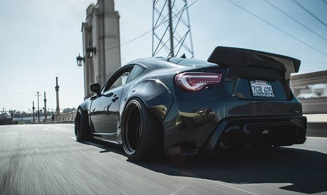Subaru BRZ with rocket bunny kit