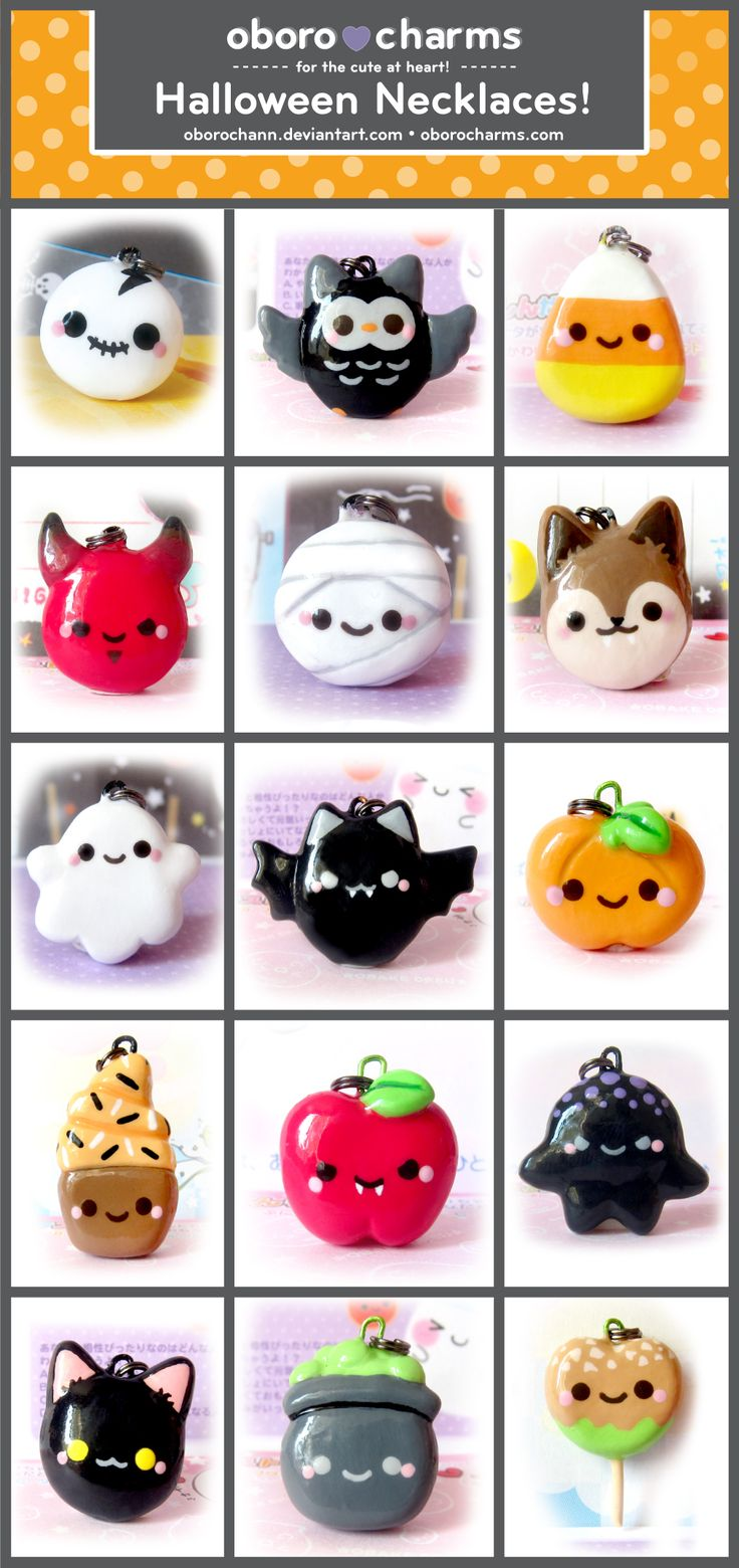 Halloween polymer clay charms