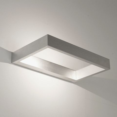 D-LIGHT Astro - nástenné LED svietidlo - 260x160mm - hliník