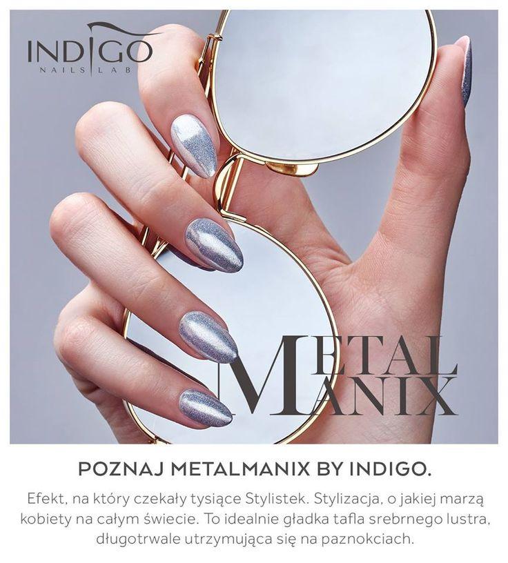 Metal Manix #silver #nails #nail #metal #manix #mani #spring #new #trend #indigo #magic #mirror #effect