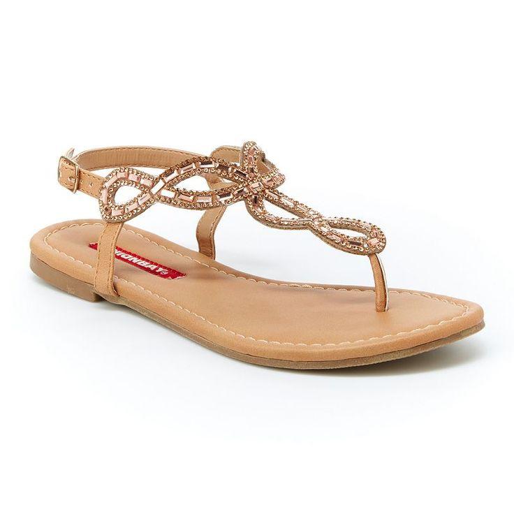 Unionbay Swirl Women's Slingback Sandals, Girl's, Size: 6.5, Gold