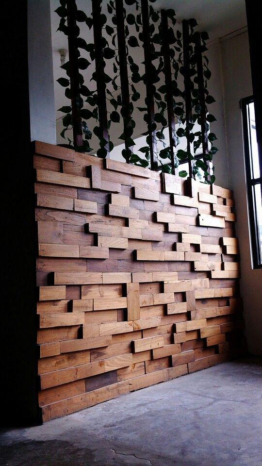 Wood puzzle @ledrecafe yogyakarta Indonesia #interior #cafeinterior #ledrecafe