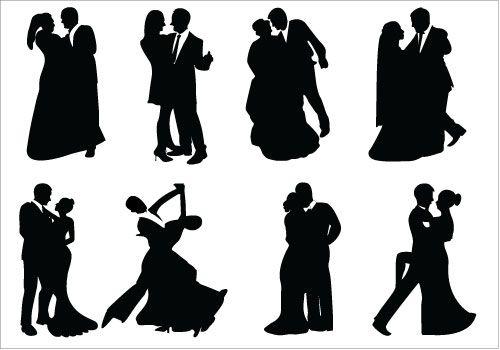 free wedding couple silhouette clip art - photo #22