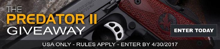 Enter to #win the Nighthawk Predator 2 Pistol Worth $3,795!!  #giveaway from @GunWinner https://wn.nr/pBxtAT Ends 04/30