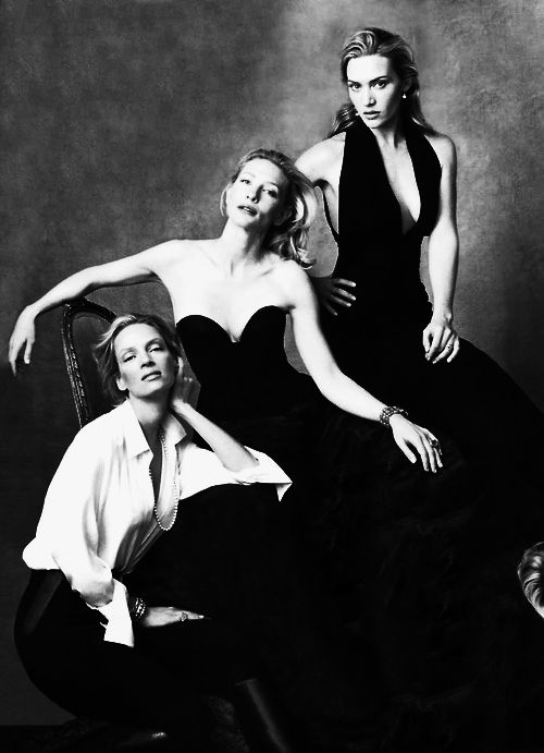 .Uma Thurman, Kate Winslet and Cate Blanchett by Annie Leibovitz for Vanity Fair
