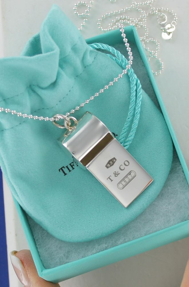 7992640661dc NEW w o Tags Tiffany   Co. Silver Whistle Pendant Bead Ball Necklace 32