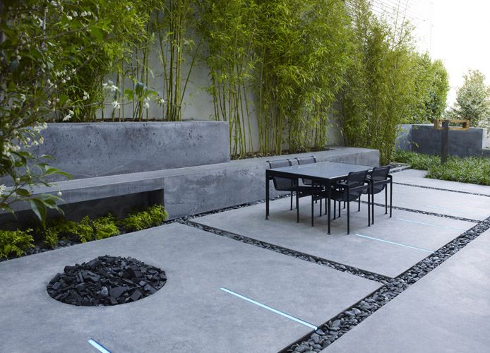 bench, fire pit, pavers, stones...