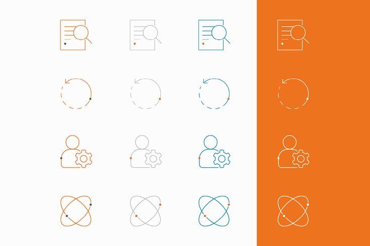 Grafisk profil till Techinova. Symboler.
