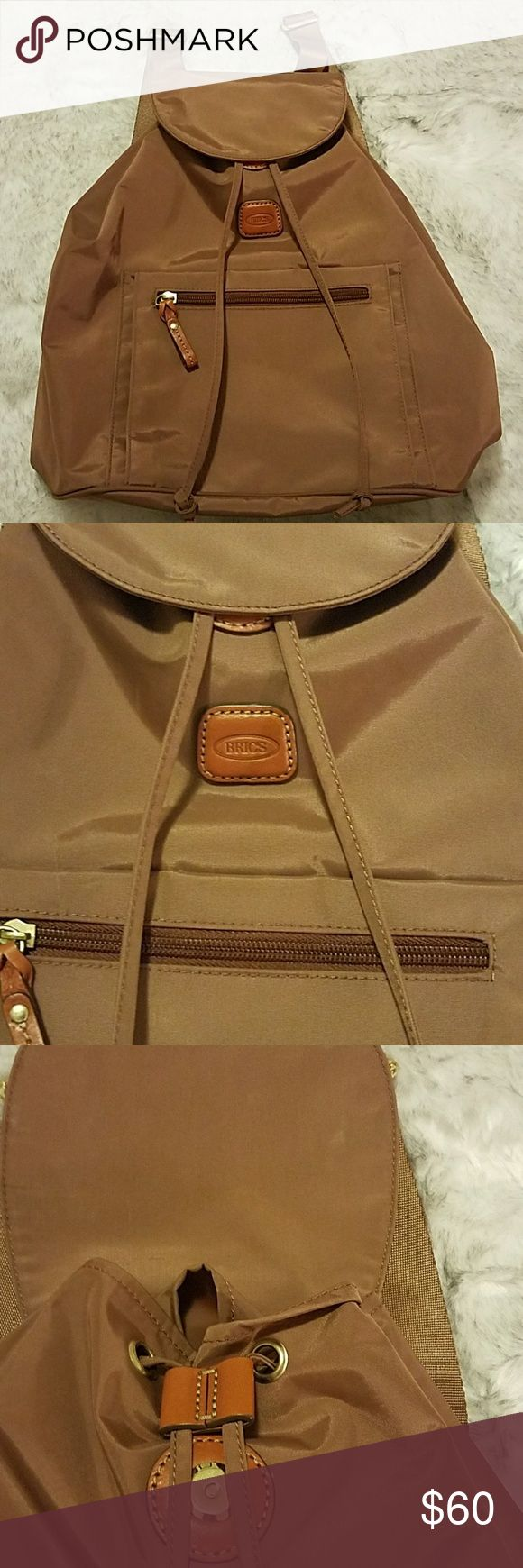 BRICS BAG X-BAG Excellent conditions like new.. previously loved. It has a color between tan/ brown BRICS Bags
